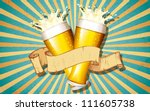 illustration of beer glass with ... | Shutterstock .eps vector #111605738