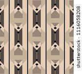 elegant geometric zigzag vector ... | Shutterstock .eps vector #1116058208