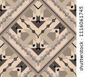 elegant geometric zigzag vector ... | Shutterstock .eps vector #1116061745