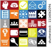 set of 25 business high quality ... | Shutterstock .eps vector #1116062096