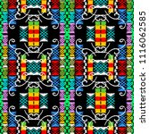 colorful geometric embroidery... | Shutterstock .eps vector #1116062585