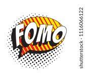 abbreviation fomo  fear of... | Shutterstock .eps vector #1116066122