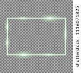 frame with light effects  laser ... | Shutterstock .eps vector #1116071825