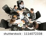 young people having business... | Shutterstock . vector #1116072338