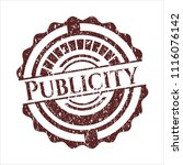 red publicity rubber stamp with ... | Shutterstock .eps vector #1116076142