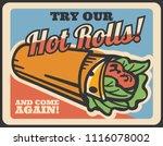 doner kebab retro poster of... | Shutterstock .eps vector #1116078002