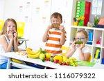at school   students prepare... | Shutterstock . vector #1116079322