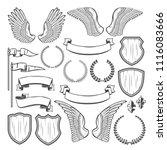 heraldic element for medieval... | Shutterstock .eps vector #1116083666