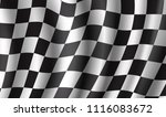 racing flag 3d illustration... | Shutterstock .eps vector #1116083672