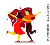 couple dancing. dance party... | Shutterstock .eps vector #1116087056