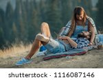 boyfriend and girlfriend... | Shutterstock . vector #1116087146