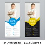 template of a vector roll up... | Shutterstock .eps vector #1116088955