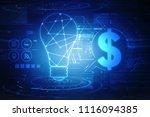 2d rendering dollar symbol    Shutterstock . vector #1116094385