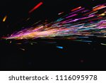 colorful bokeh lights on black... | Shutterstock . vector #1116095978