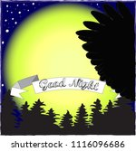 good night and sweet dreams... | Shutterstock .eps vector #1116096686