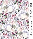 seamless watercolor pattern... | Shutterstock . vector #1116097418