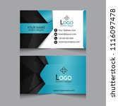 corporate business card | Shutterstock .eps vector #1116097478