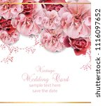 wedding invitation with floral... | Shutterstock .eps vector #1116097652