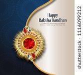 decorated rakhi for indian... | Shutterstock .eps vector #1116099212