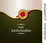 decorated rakhi for indian...   Shutterstock .eps vector #1116099218