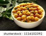 indian vegan curry  cahana... | Shutterstock . vector #1116102392