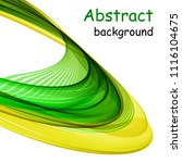 abstract green and yellow waves ...   Shutterstock .eps vector #1116104675