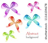abstract colorful butterfly on...   Shutterstock .eps vector #1116104678