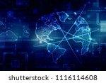 2d illustration network... | Shutterstock . vector #1116114608