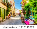 alacati  turkey   june 07  2014 ... | Shutterstock . vector #1116115775