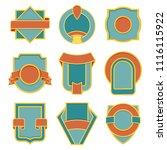 set of retro vintage badges....   Shutterstock .eps vector #1116115922