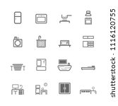 simple household accessories... | Shutterstock .eps vector #1116120755