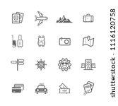 simple travel icon set  travel... | Shutterstock .eps vector #1116120758