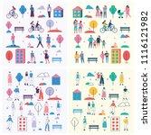 vector backgrounds in flat... | Shutterstock .eps vector #1116121982