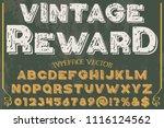 font alphabet script typeface... | Shutterstock .eps vector #1116124562