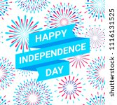 vector happy independence day... | Shutterstock .eps vector #1116131525