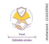 partnership concept icon.... | Shutterstock .eps vector #1116133562