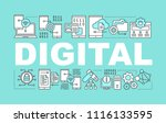 digital technology word... | Shutterstock .eps vector #1116133595