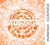 advisory orange mosaic emblem | Shutterstock .eps vector #1116142616