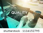 quality assurance. control and... | Shutterstock . vector #1116152795