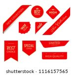 new tag ribbon and banner... | Shutterstock .eps vector #1116157565