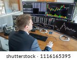 businessman trading stocks.... | Shutterstock . vector #1116165395