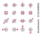 arrow line collection. touch... | Shutterstock .eps vector #1116168062