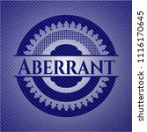 aberrant emblem with jean... | Shutterstock .eps vector #1116170645