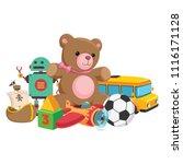 vector illustration of kids toys | Shutterstock .eps vector #1116171128