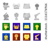 gold pistol  silver prize for...   Shutterstock .eps vector #1116176966