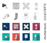 tablets  inhaler  container... | Shutterstock .eps vector #1116176972