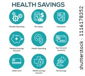 medical tax savings w health... | Shutterstock .eps vector #1116178352