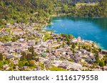 high up view of alpine town st. ... | Shutterstock . vector #1116179558