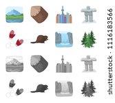 canadian fir  beaver and other... | Shutterstock .eps vector #1116183566