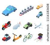 different types of transport... | Shutterstock .eps vector #1116183608